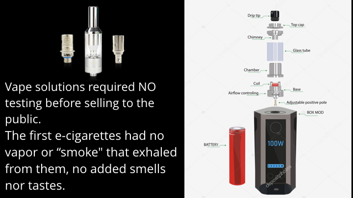 Vaporizers require no testing Diagram